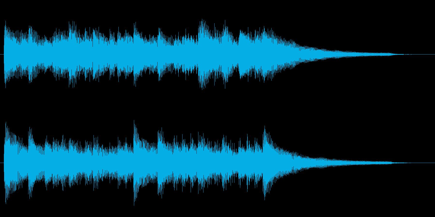 明るく希望を感じるピアノジングル 9秒の再生済みの波形