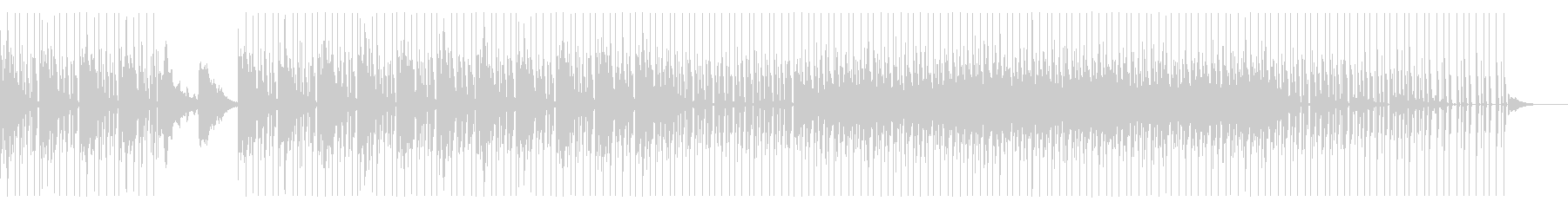 ミニマル系なクールビートとシンセサウンドの未再生の波形