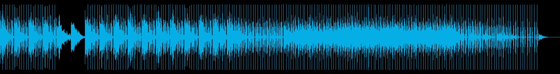 ミニマル系なクールビートとシンセサウンドの再生済みの波形