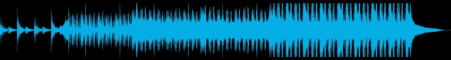 薄暗いトリップホップの再生済みの波形