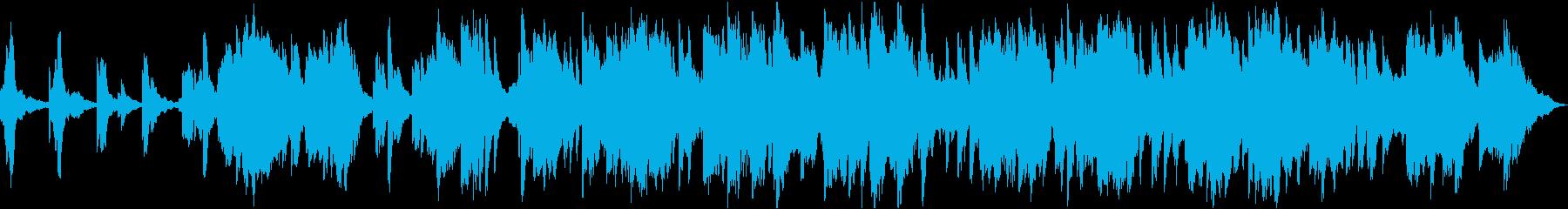 静かで少し不思議な感じのヒーリング音楽の再生済みの波形