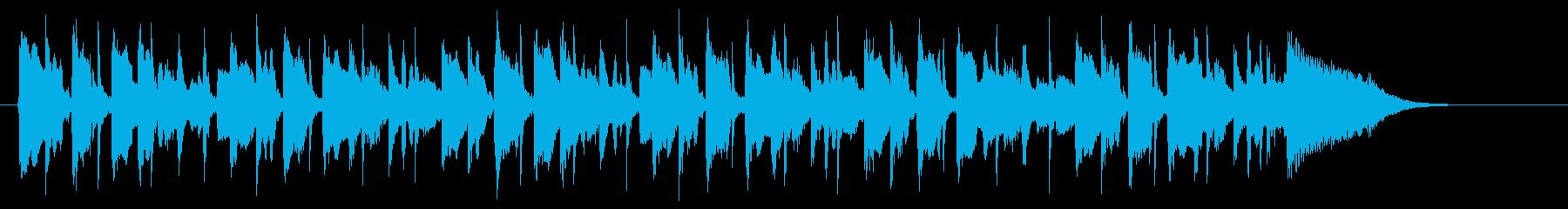 和やかで明るいリラクゼーション音楽の再生済みの波形