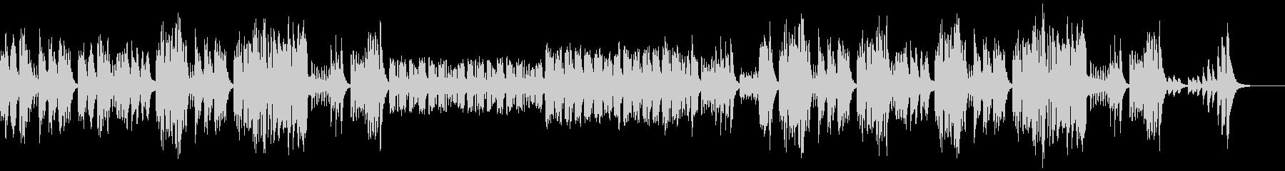 リコーダー、木琴、ほのぼのした日常曲の未再生の波形