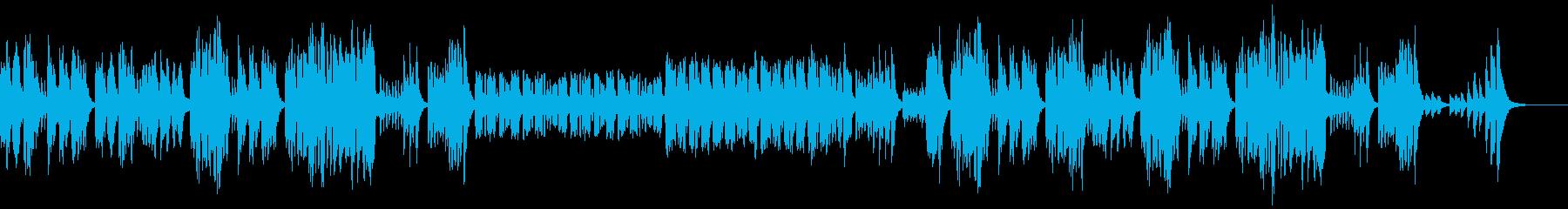 リコーダー、木琴、ほのぼのした日常曲の再生済みの波形