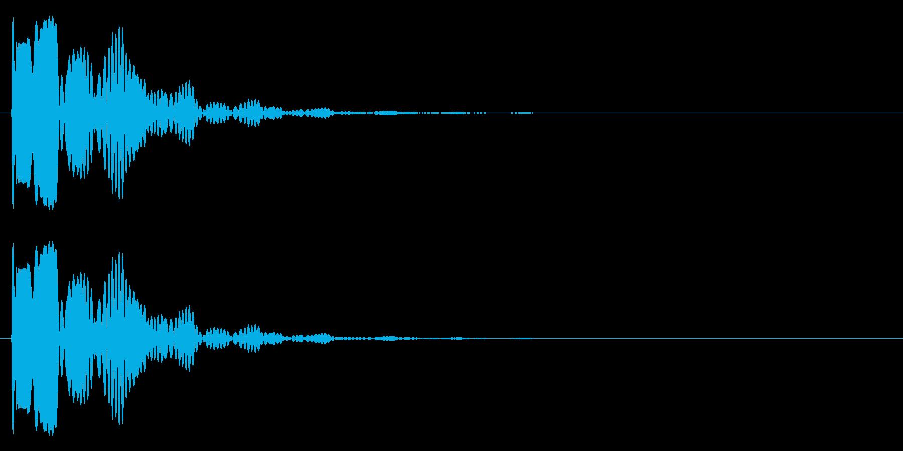プワォー・・の再生済みの波形