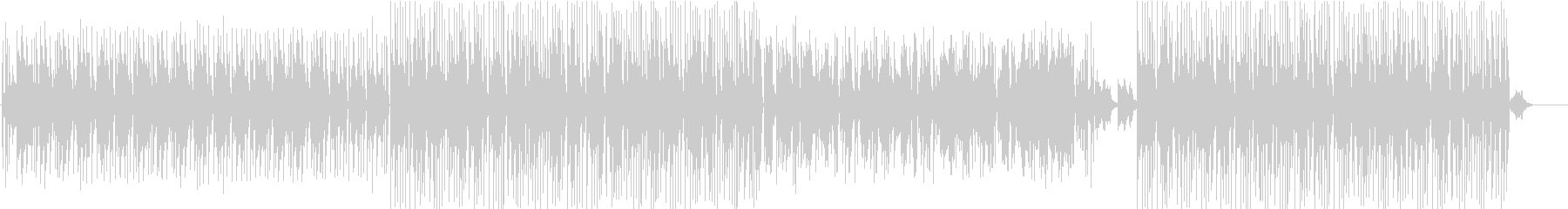 無機質でインダストリアルなアンビエンス曲の未再生の波形