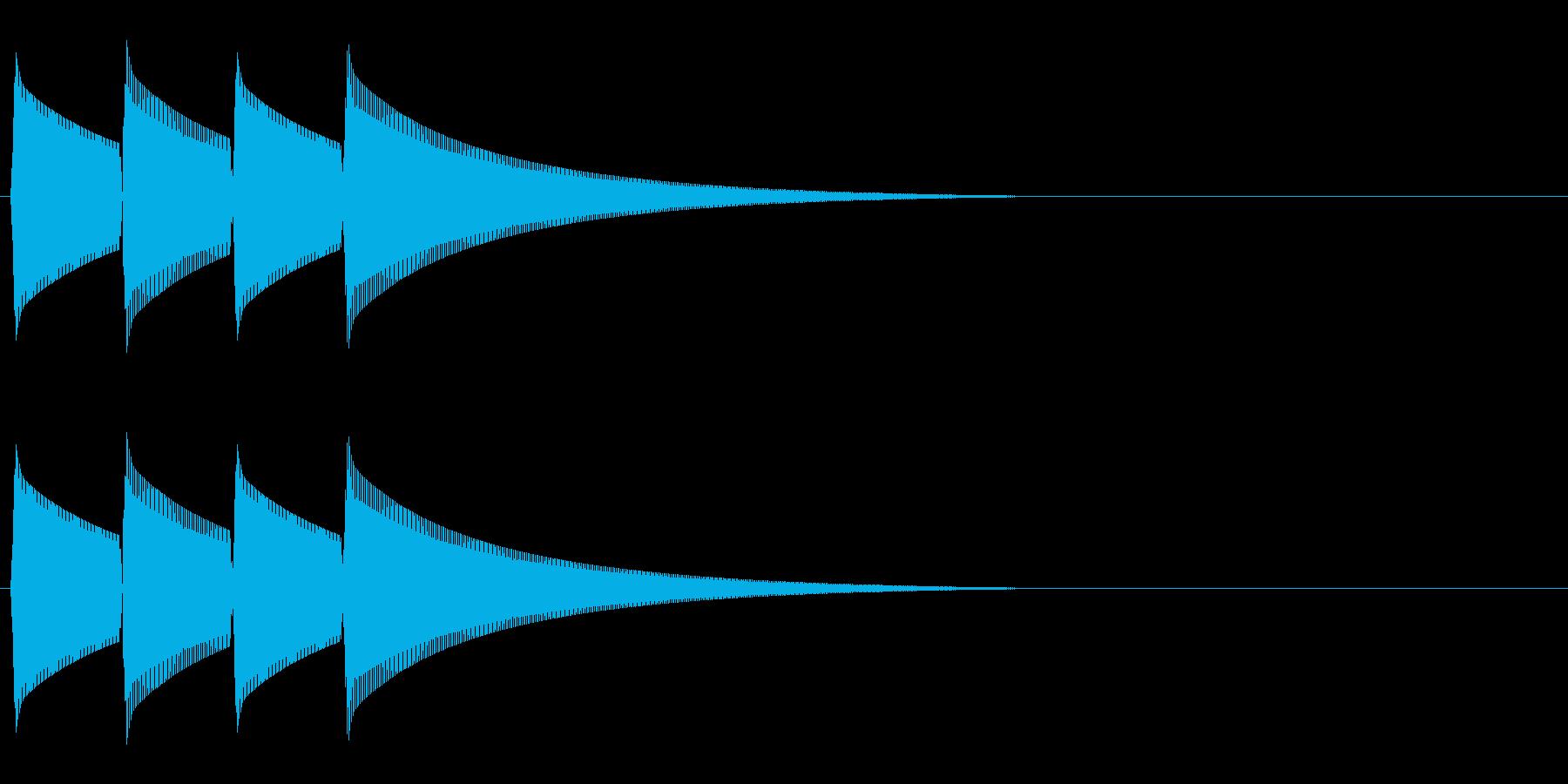 ピンポンピンポン(正解/クイズ/余興)の再生済みの波形
