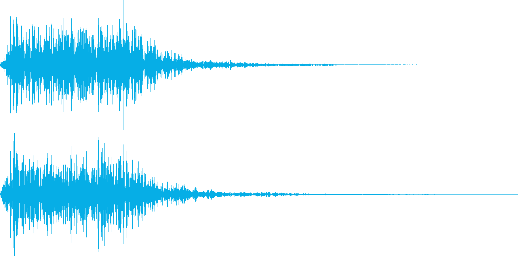 吹きすさぶ風・竜巻系の魔法(低2)sの再生済みの波形