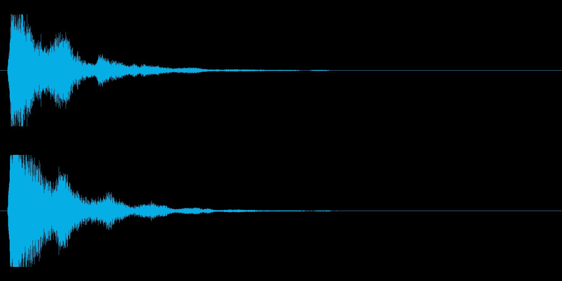 レーザー音-47-2の再生済みの波形