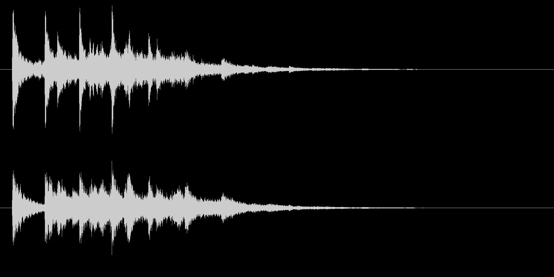ベル系☆パソコン起動音風ジングル 4の未再生の波形