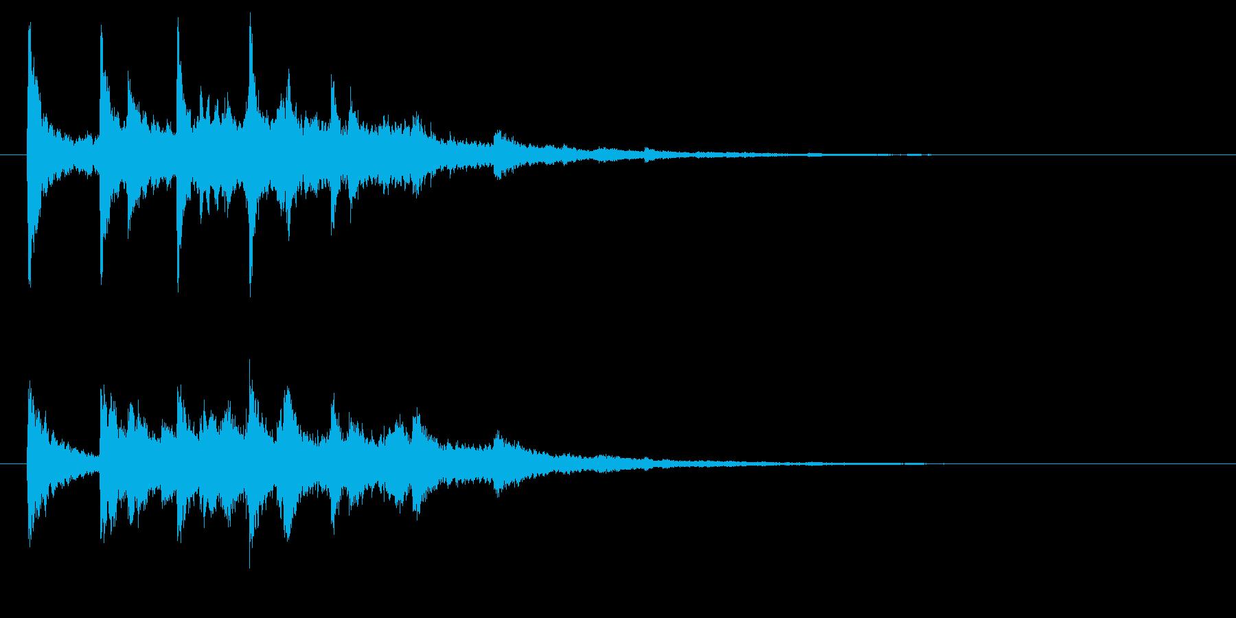 ベル系☆パソコン起動音風ジングル 4の再生済みの波形