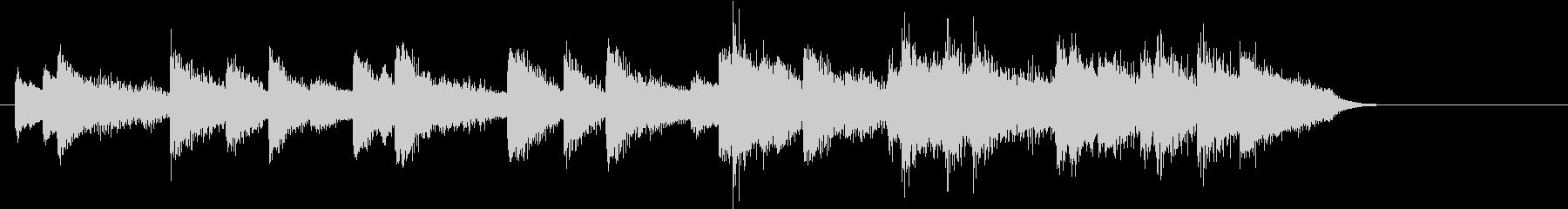ウインターワンダーランドピアノジングルBの未再生の波形