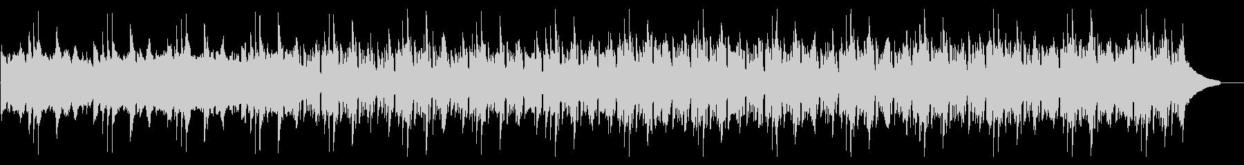 爽やかなシンセとピアノの説明向けBGMの未再生の波形