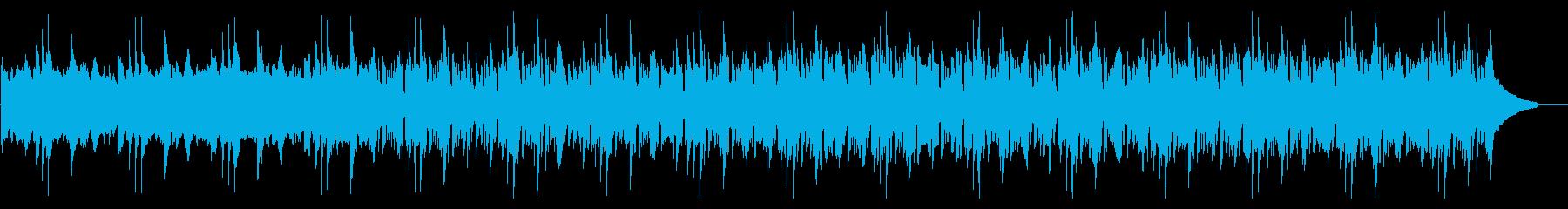 爽やかなシンセとピアノの説明向けBGMの再生済みの波形