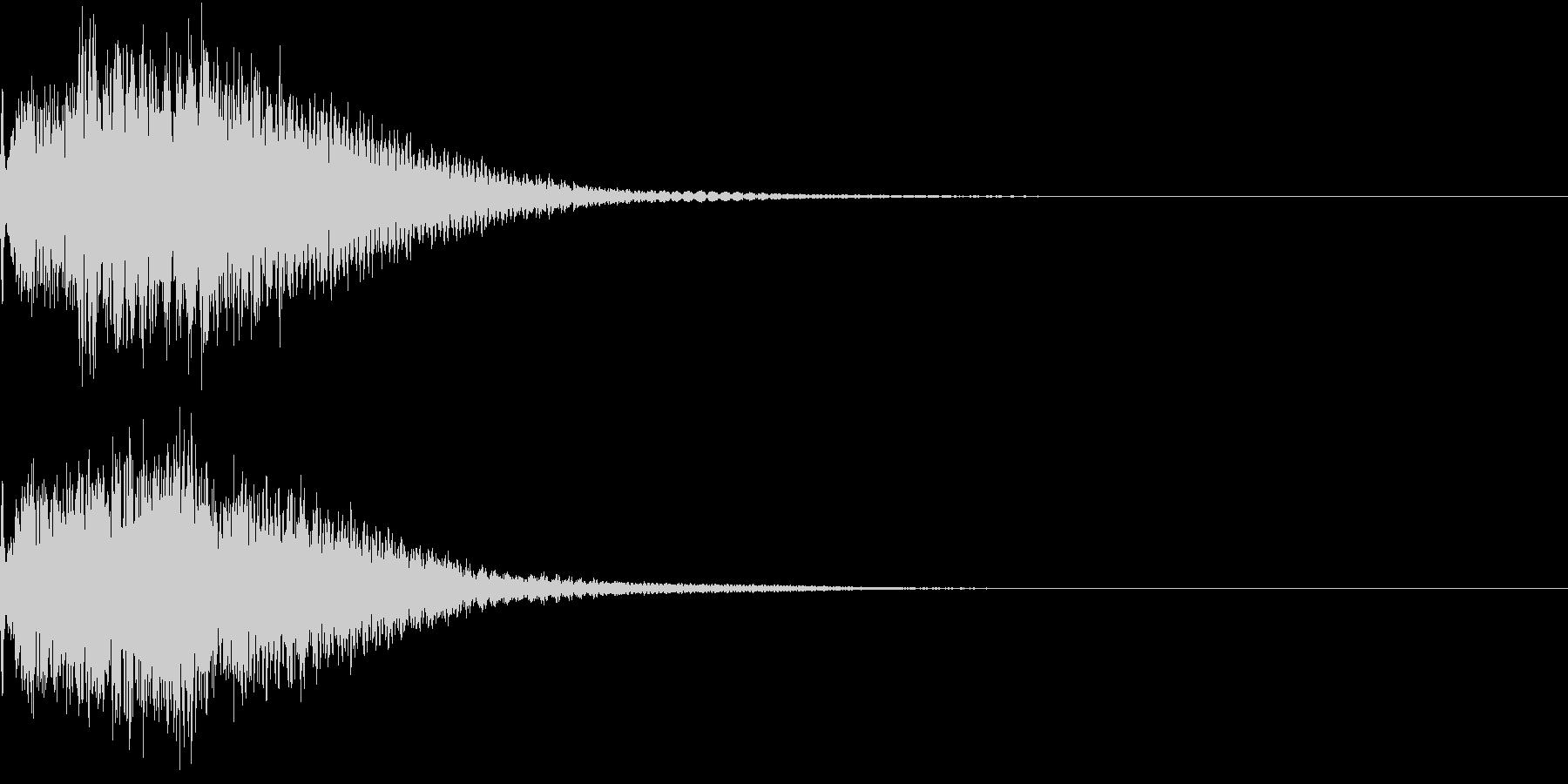 光 キュイン 目立つ カットイン 03の未再生の波形