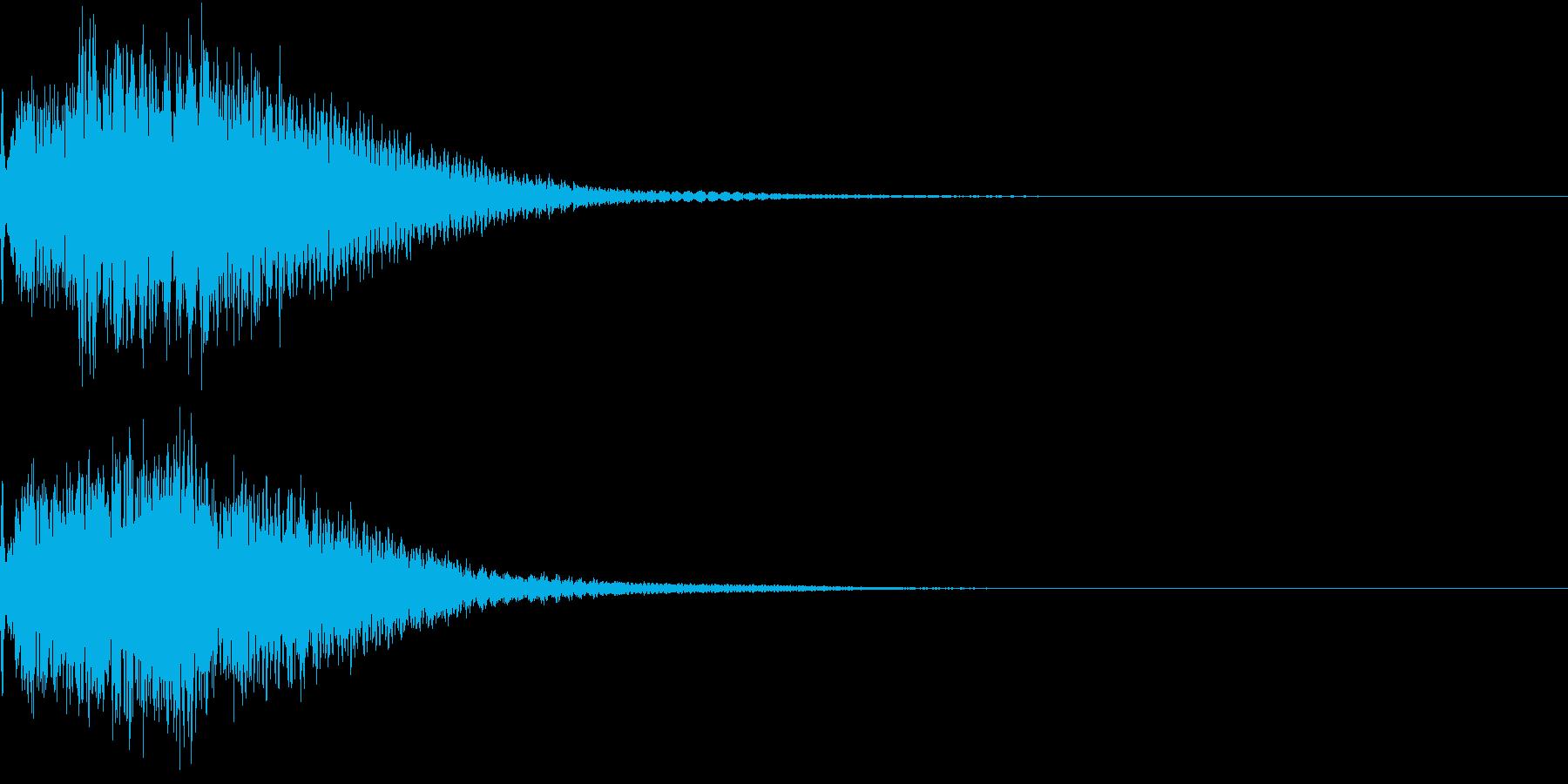 光 キュイン 目立つ カットイン 03の再生済みの波形