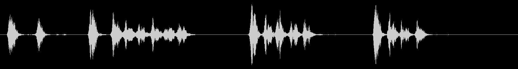 犬の大きなチェーンの動きをBarえるの未再生の波形