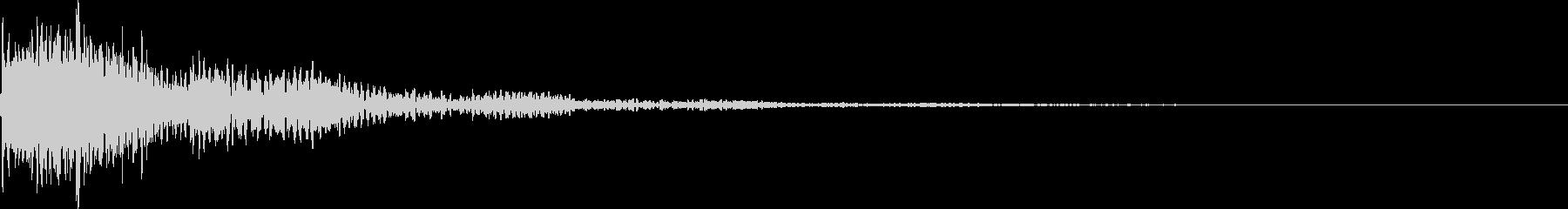 太鼓と三味線の和風インパクトジングル!7の未再生の波形