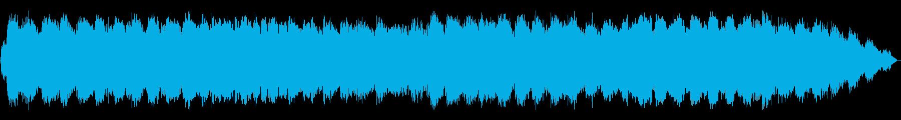 エスニックな笛のヒーリング音楽の再生済みの波形