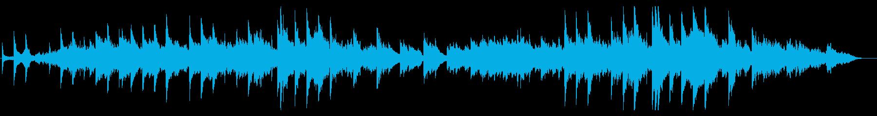 ピアノとギターが静かに響くバラードの再生済みの波形