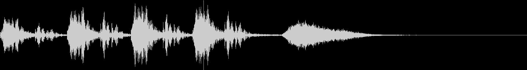 心臓の鼓動音とオーケストラヒット~失敗~の未再生の波形