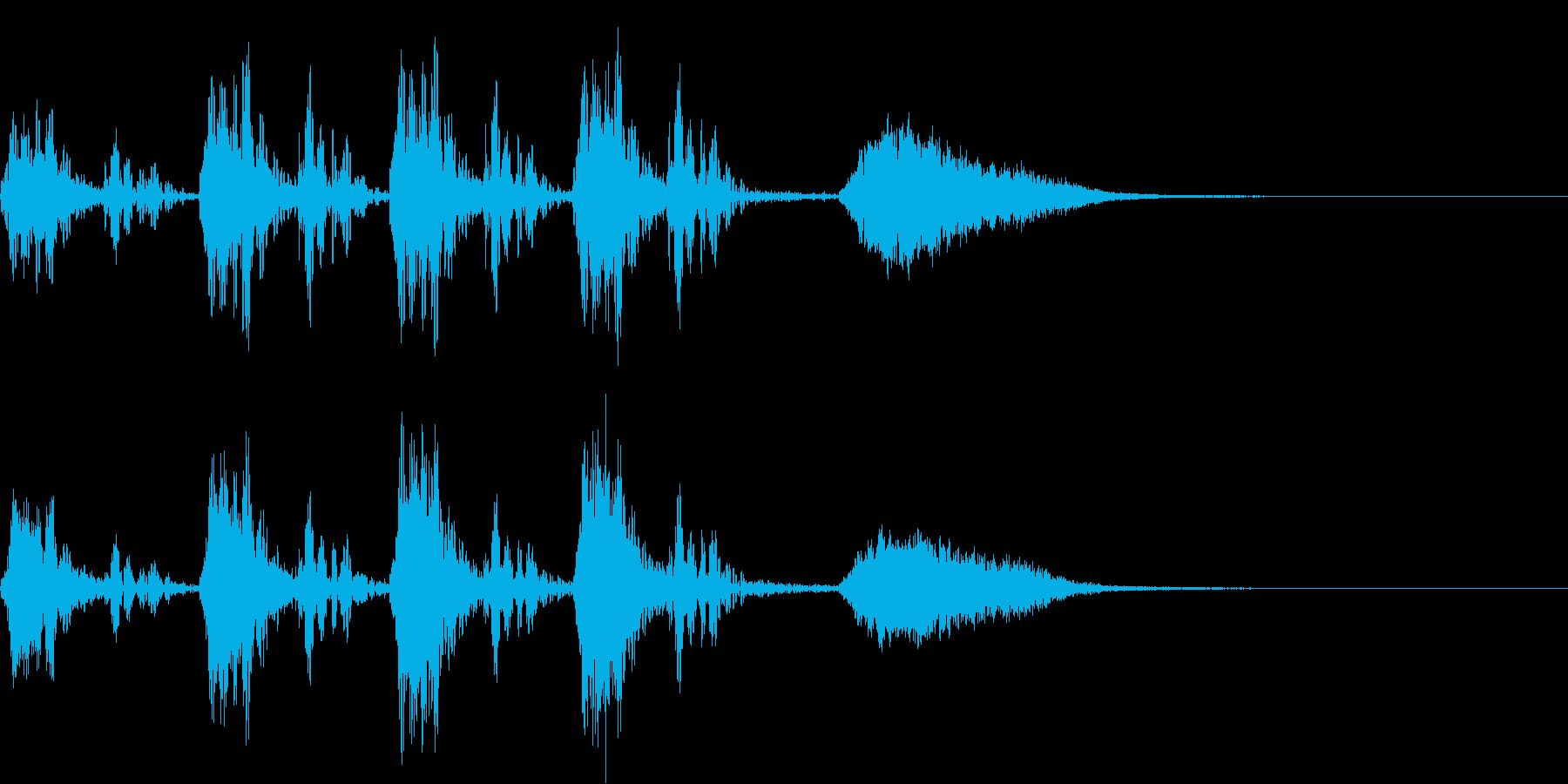 心臓の鼓動音とオーケストラヒット~失敗~の再生済みの波形