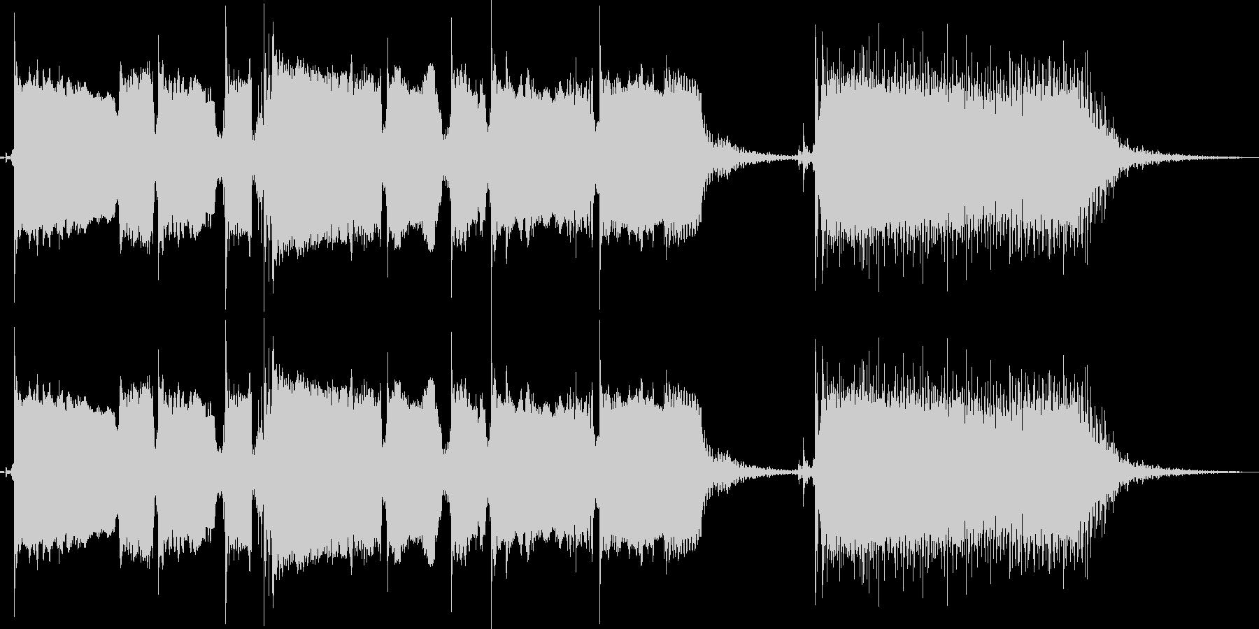 【エレキギター】コメディーアニメ場面転換の未再生の波形