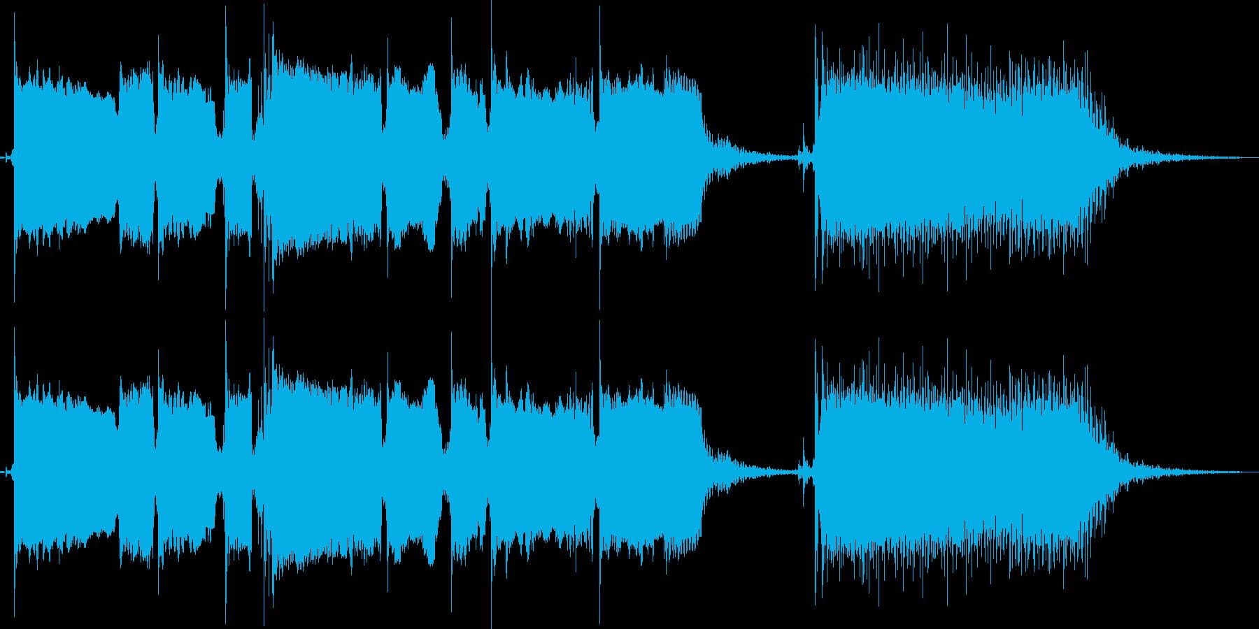 【エレキギター】コメディーアニメ場面転換の再生済みの波形