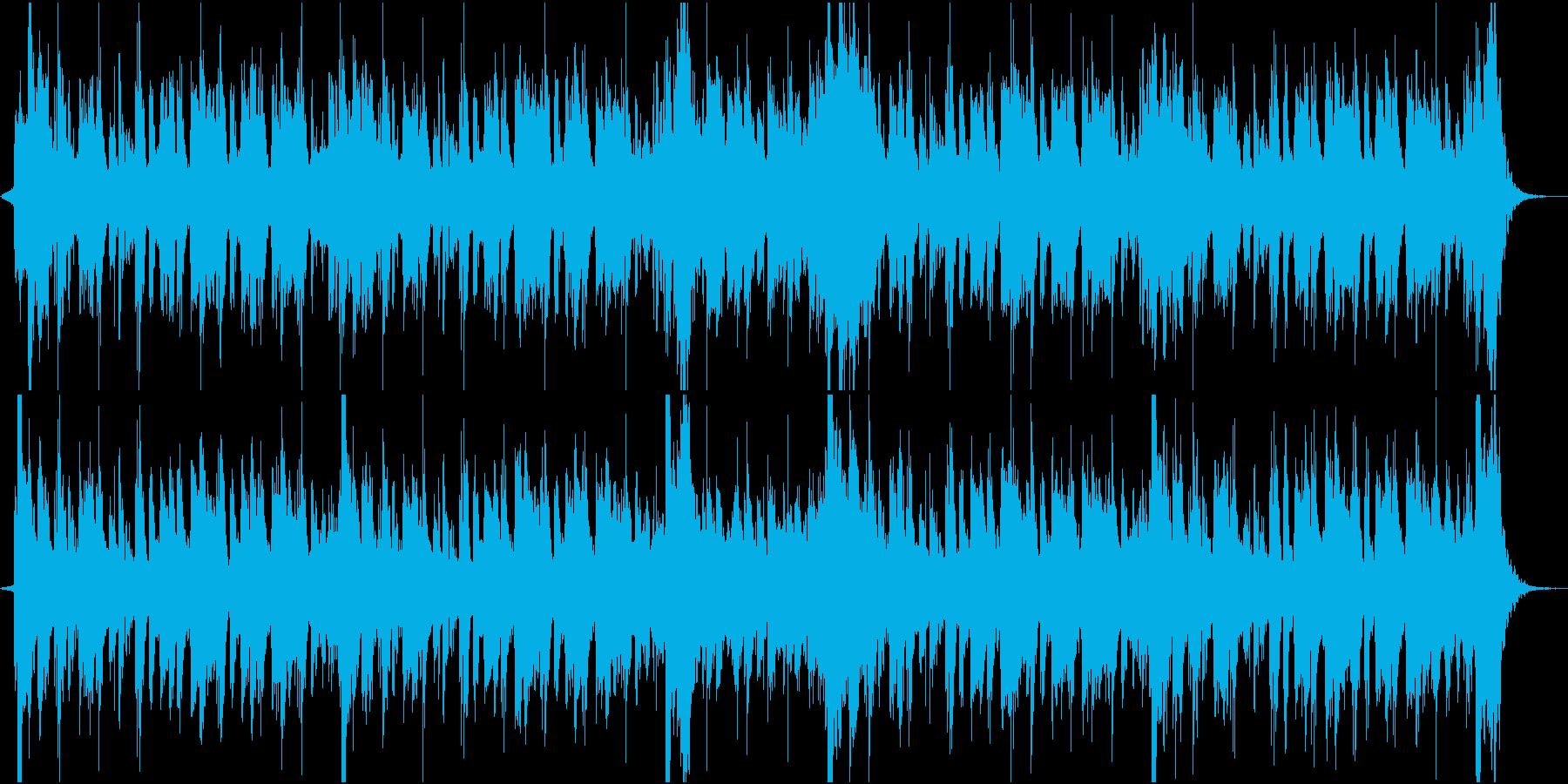 ホーンセクションのファンキーなジングルの再生済みの波形