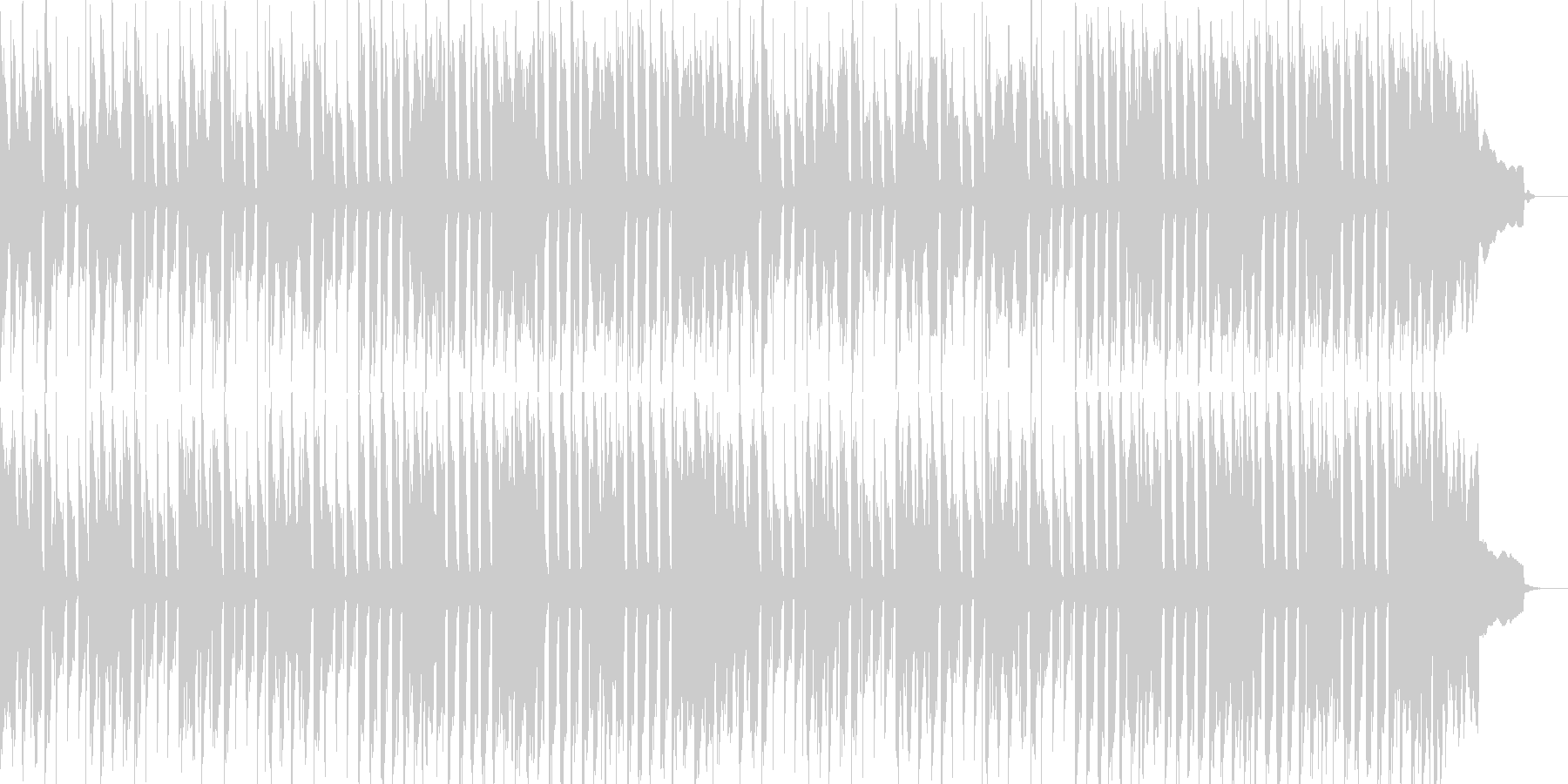 かわいい、ゆるい、コミカル-10の未再生の波形