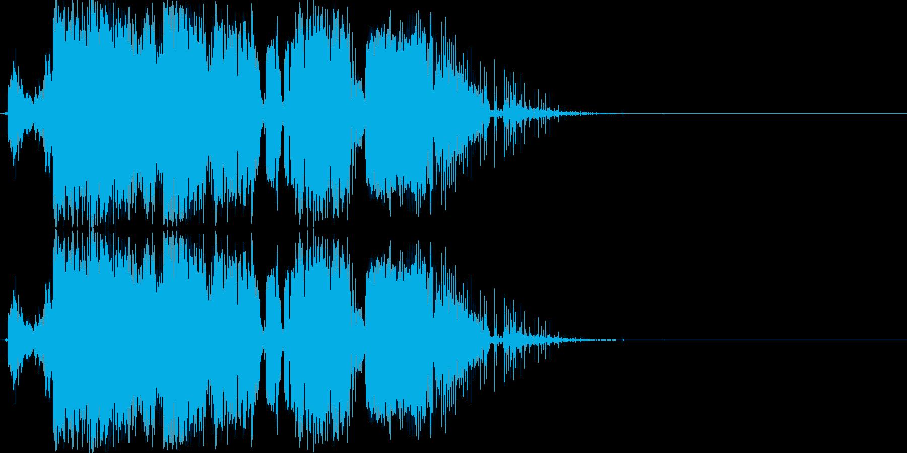 ビリビリ!バリバリ!感電の時の効果音の再生済みの波形