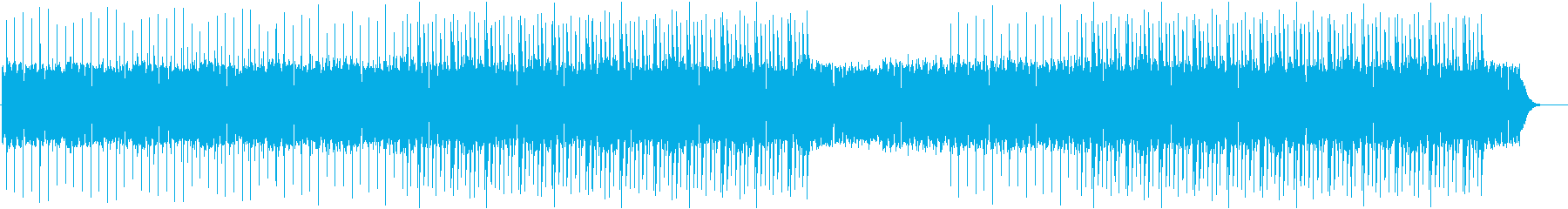 エレキギターが力強い印象のロック風BGMの再生済みの波形
