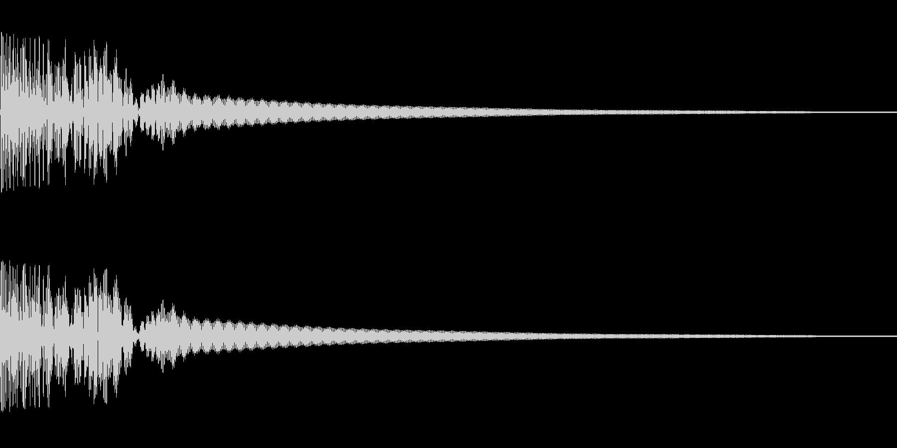 和太鼓でドン(生演奏)の未再生の波形