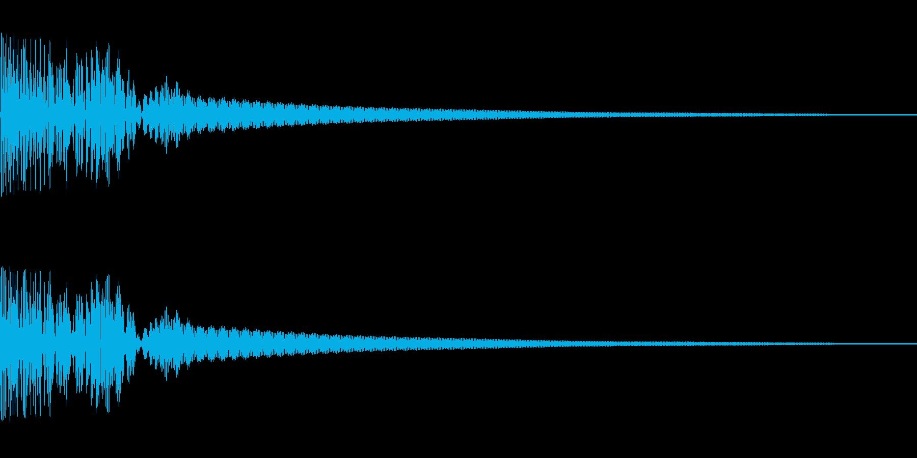 和太鼓でドン(生演奏)の再生済みの波形