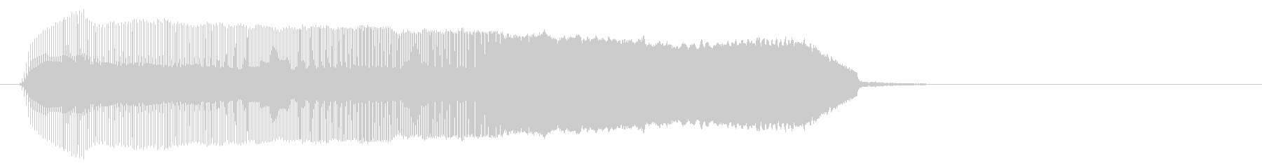 シンプルなメーター上昇音/コミカルの未再生の波形