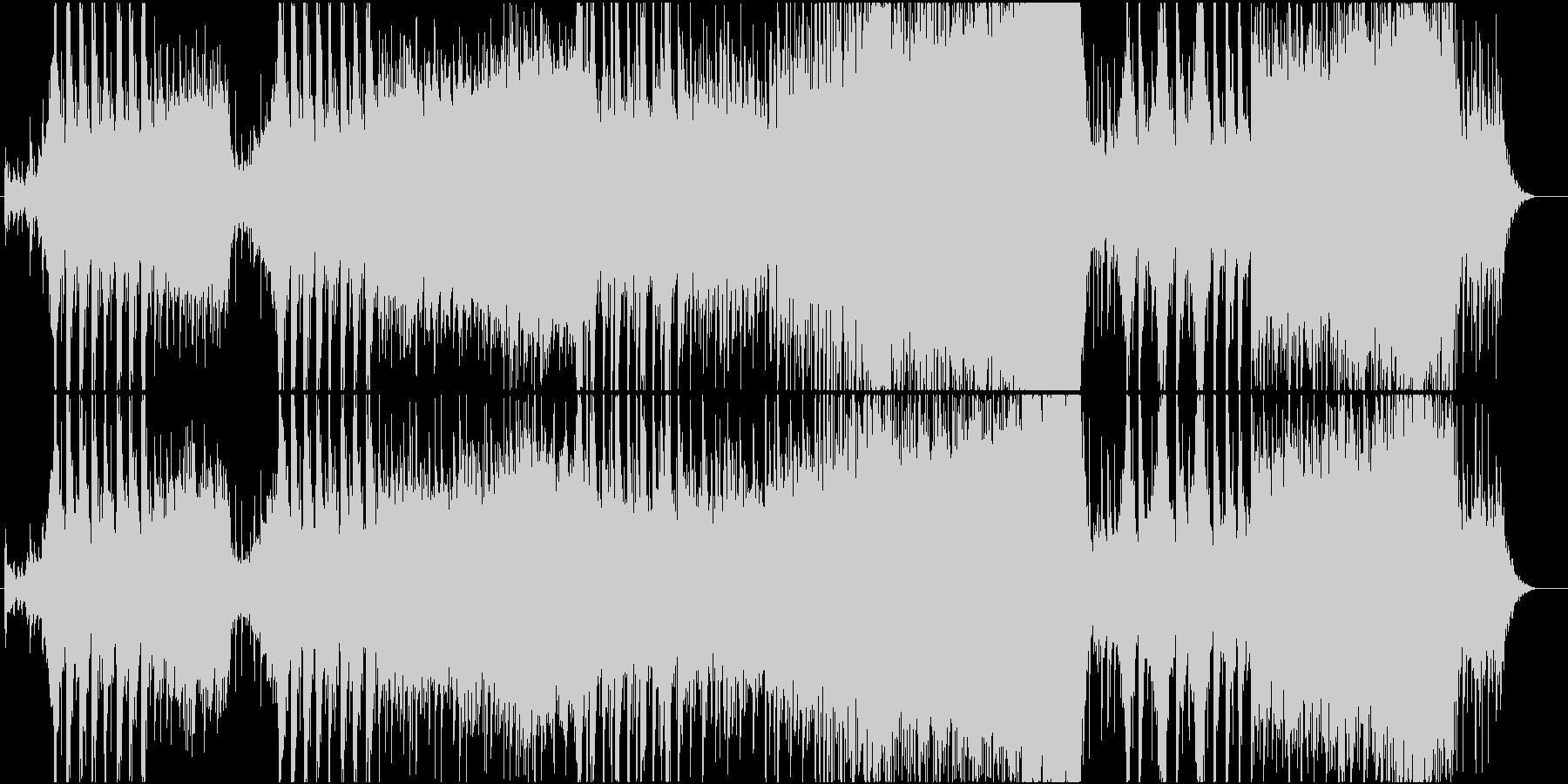 激しいイメージのバトルスコアの未再生の波形