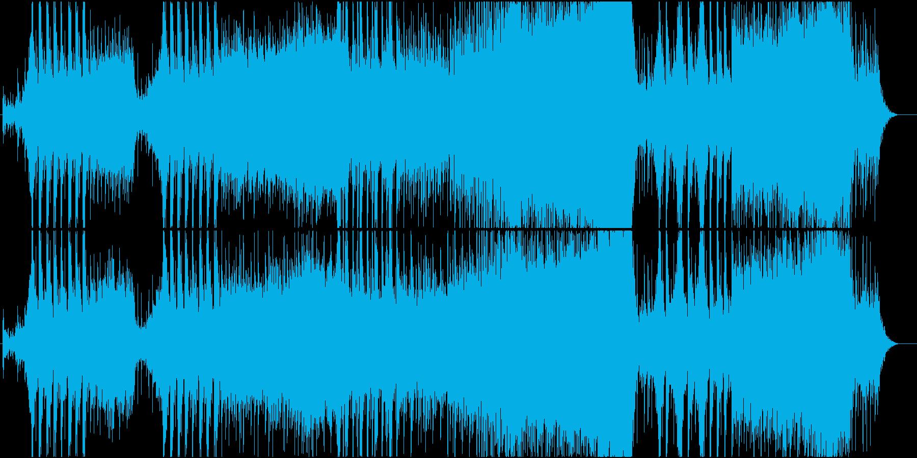 激しいイメージのバトルスコアの再生済みの波形