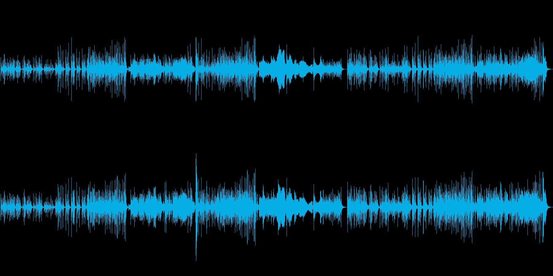 和風の旋律が特徴的な楽曲の再生済みの波形
