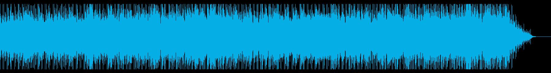 梅雨前の晴れの日をイメージしたボサノバの再生済みの波形