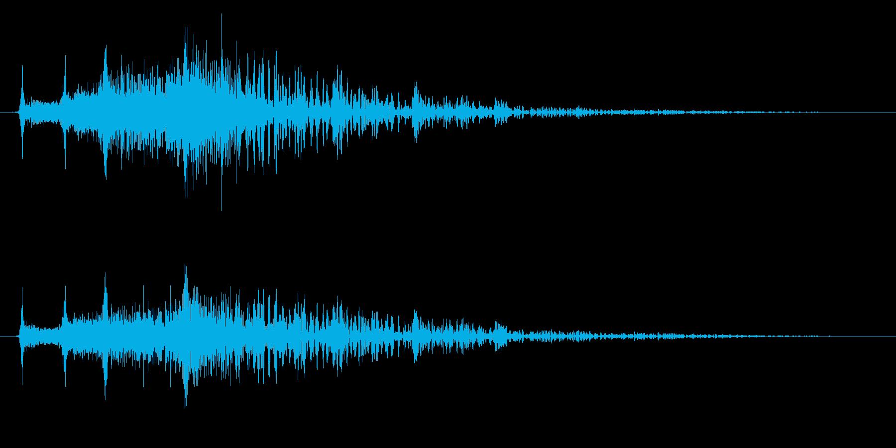 メニュー画面音(ウインドウ,決定等)18の再生済みの波形