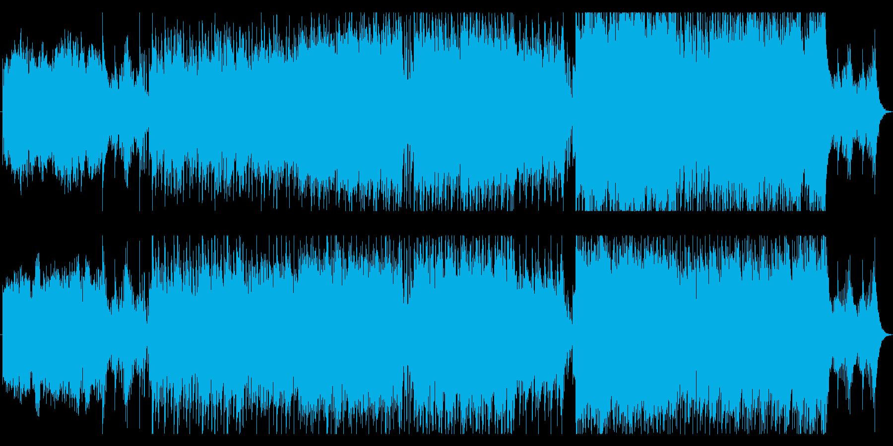 特撮ロボット映画風テーマ曲の再生済みの波形