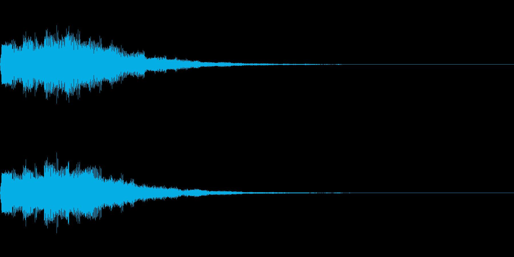 ゲーム/アプリ/起動/スタート/決定音の再生済みの波形