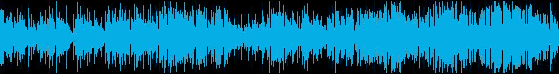 クラブジャズ、軽快なビート ※ループ版の再生済みの波形