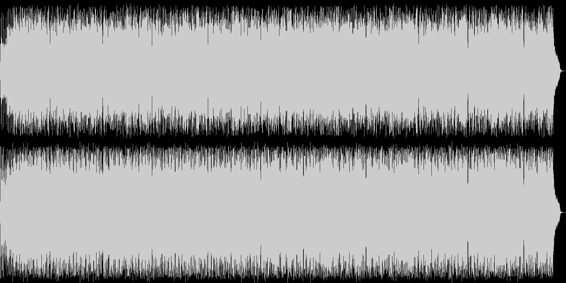 陽気なシンセサイザーサウンドの未再生の波形