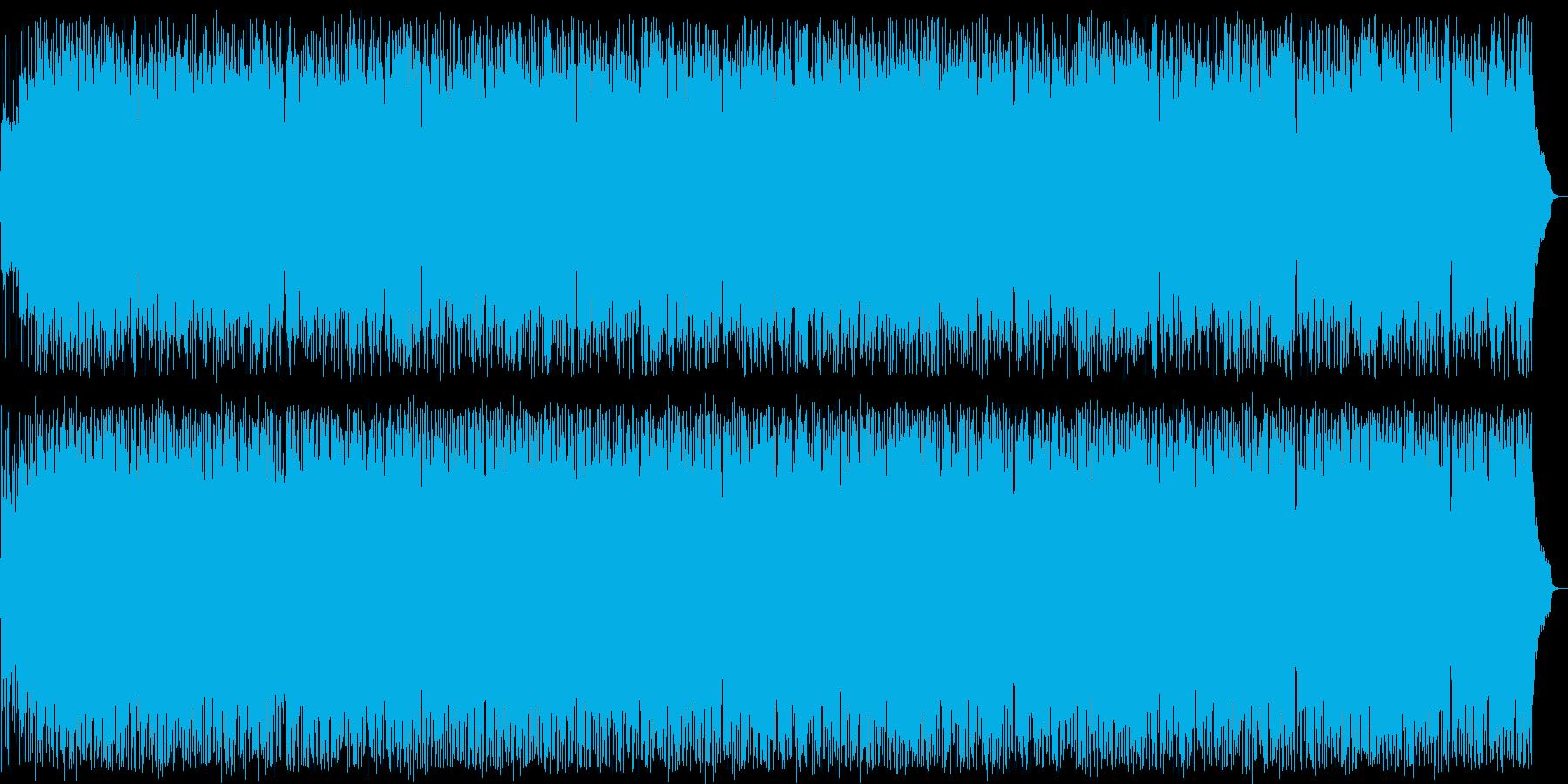 陽気なシンセサイザーサウンドの再生済みの波形