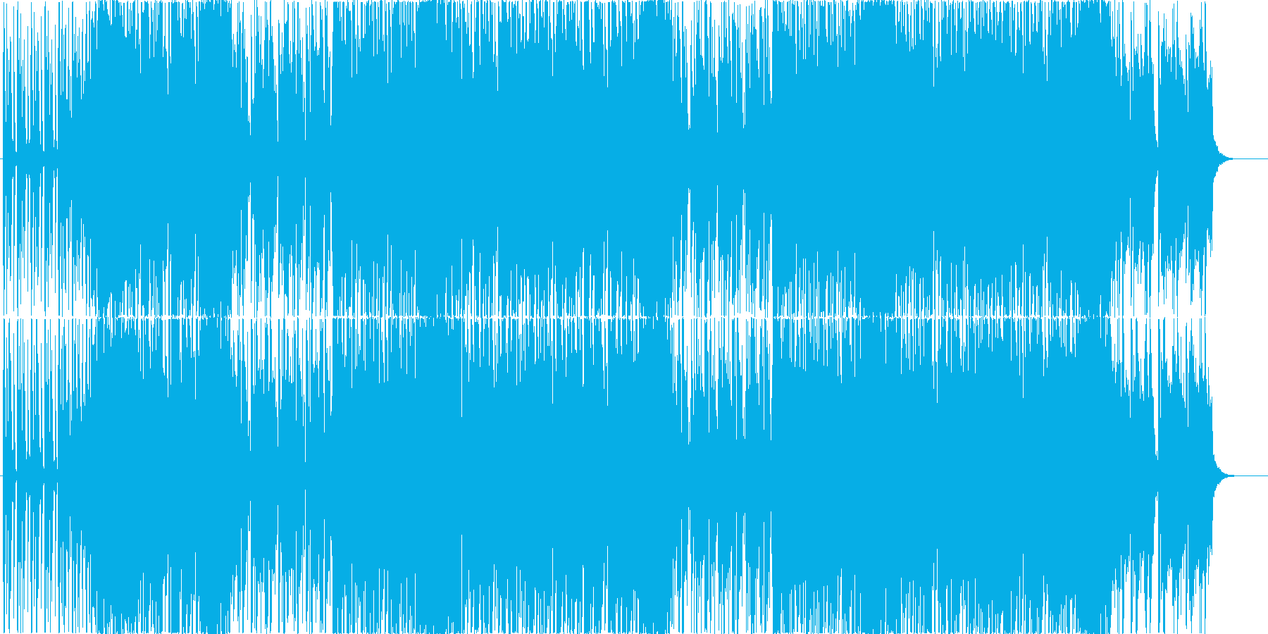ストリングスのリフが印象的な明るいEDMの再生済みの波形