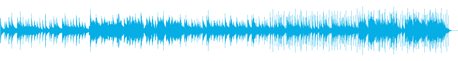 琴と尺八がメインの落ち着いた和風な曲の再生済みの波形