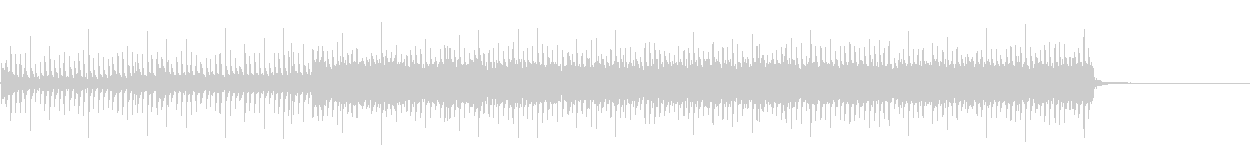 勢いのあるBGMの未再生の波形