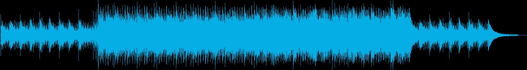 意志の強い爽やかで力強いBGMの再生済みの波形