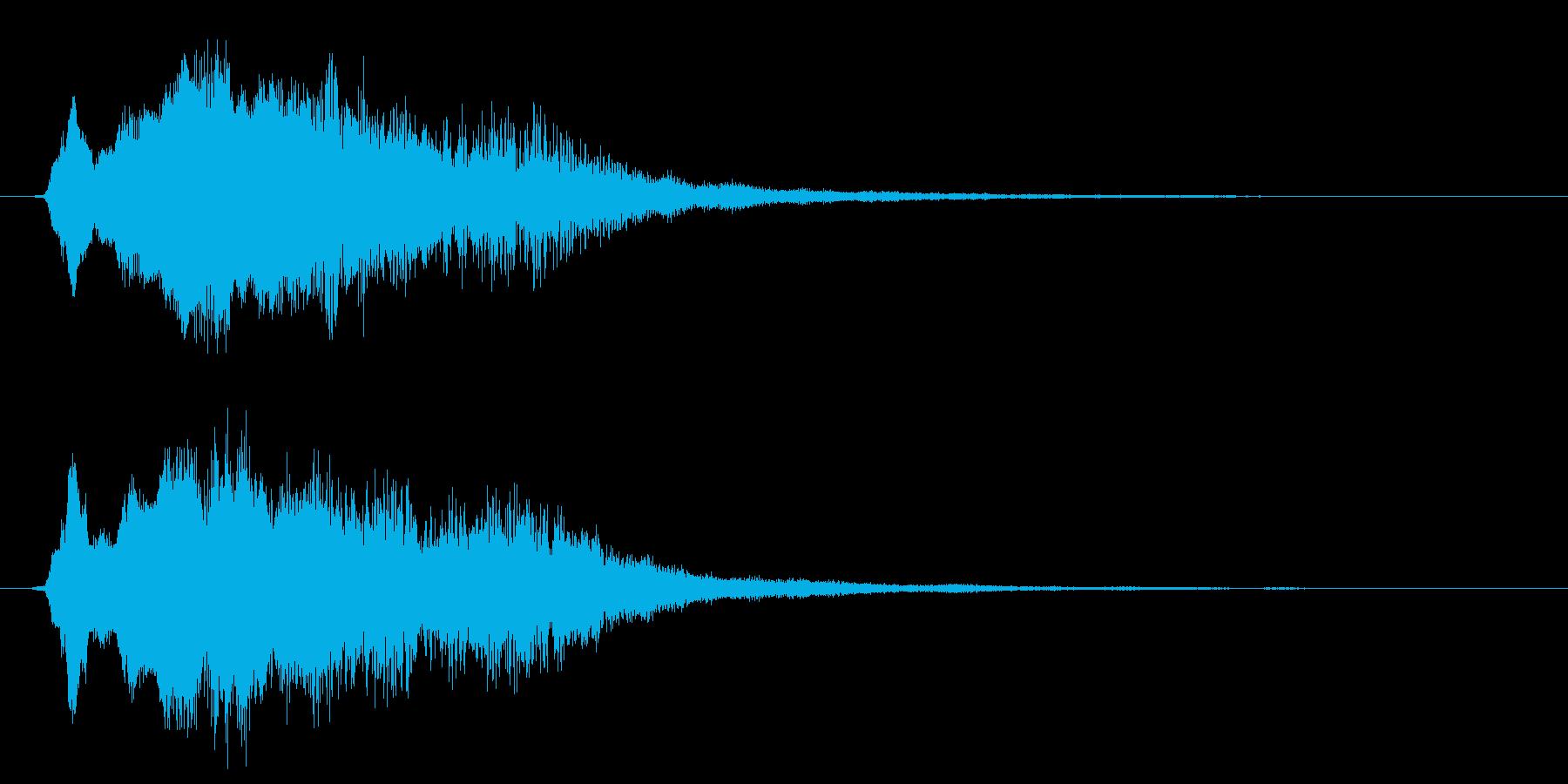 【ジングル】ホラー系アニメのアイキャッチの再生済みの波形